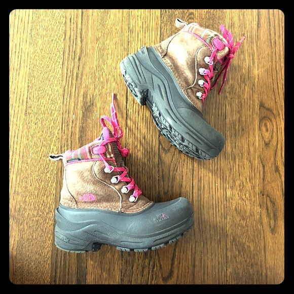 df34c6394 North face Waterproof Winter Boots Little Girls 13